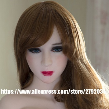 JY Sex Doll Head for Body of 100cm to 135cm Lovely Silicone Sex Doll Love Doll Oral Sex Toy