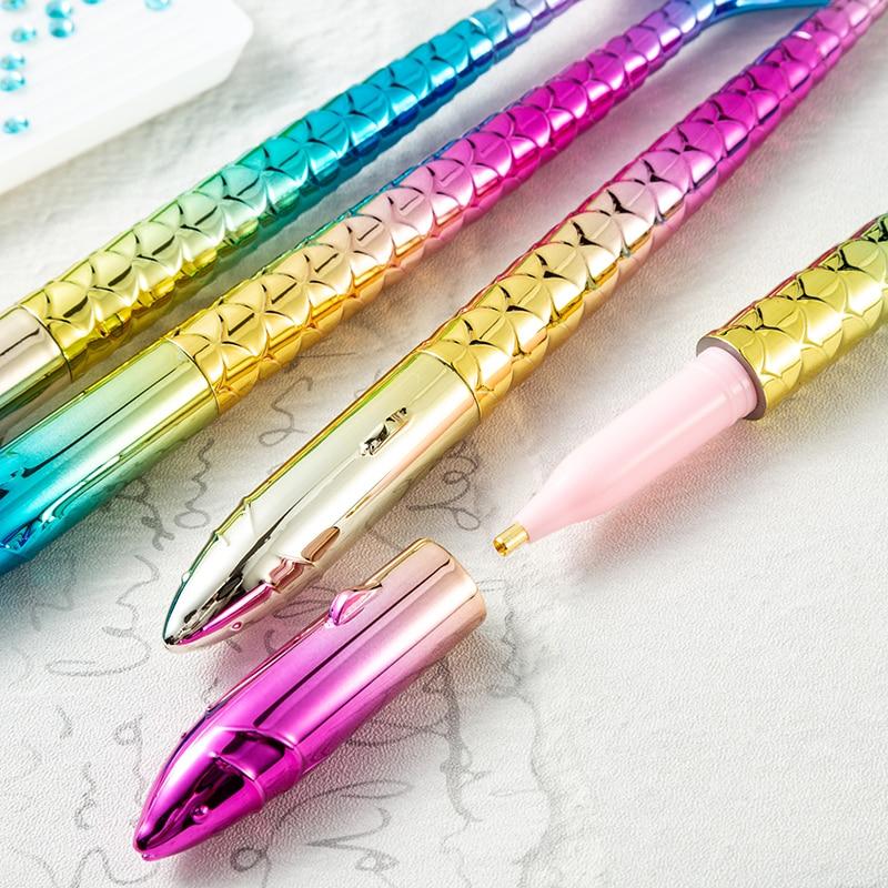 1Pcs Point Drill Pen Resin/Plastic Crystal Diamond Painting Sewing Tool DIY Crafts Nail Art Mermaid