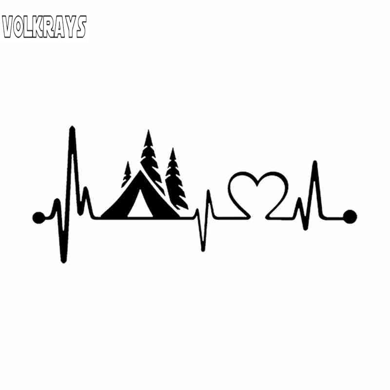 Love Outdoors Camping Camping Travel stickers Window Truck Car Vinyl Bumper Sticker Decal 5