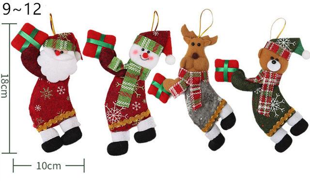 New Year 2020 Cute Santa Claus/Snowman/Angel Christmas Dolls Noel Christmas Tree Decoration for Home Xmas Navidad 2019 Kids Gift 19