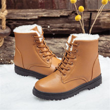 New women's boots casual suede solid color warm fashion snow boots women wear non-slip design winter warm women's shoes concise solid color and suede design women s mid calf boots