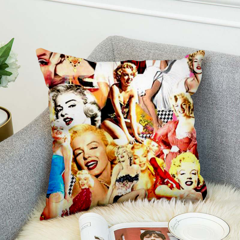 Marilyn Monroe Pillow Case Polyester Decorative Pillowcases Throw Pillow Cover Style-6