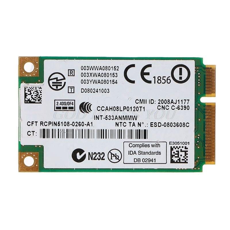 2,4 ГГц и 5,0 ГГц 5300 533AN_MMW беспроводной WLAN WiFi мини PCIe Карта 802.11n + 450 Мбит/с устройством модуль Wi-Fi соединение карты Прямая доставка