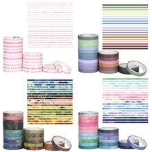 10/20 pièces/ensemble bricolage papier décoratif autocollant à la main artisanat Scrapbook Journal fleur papier adhésif ruban de masquage ruban Washi