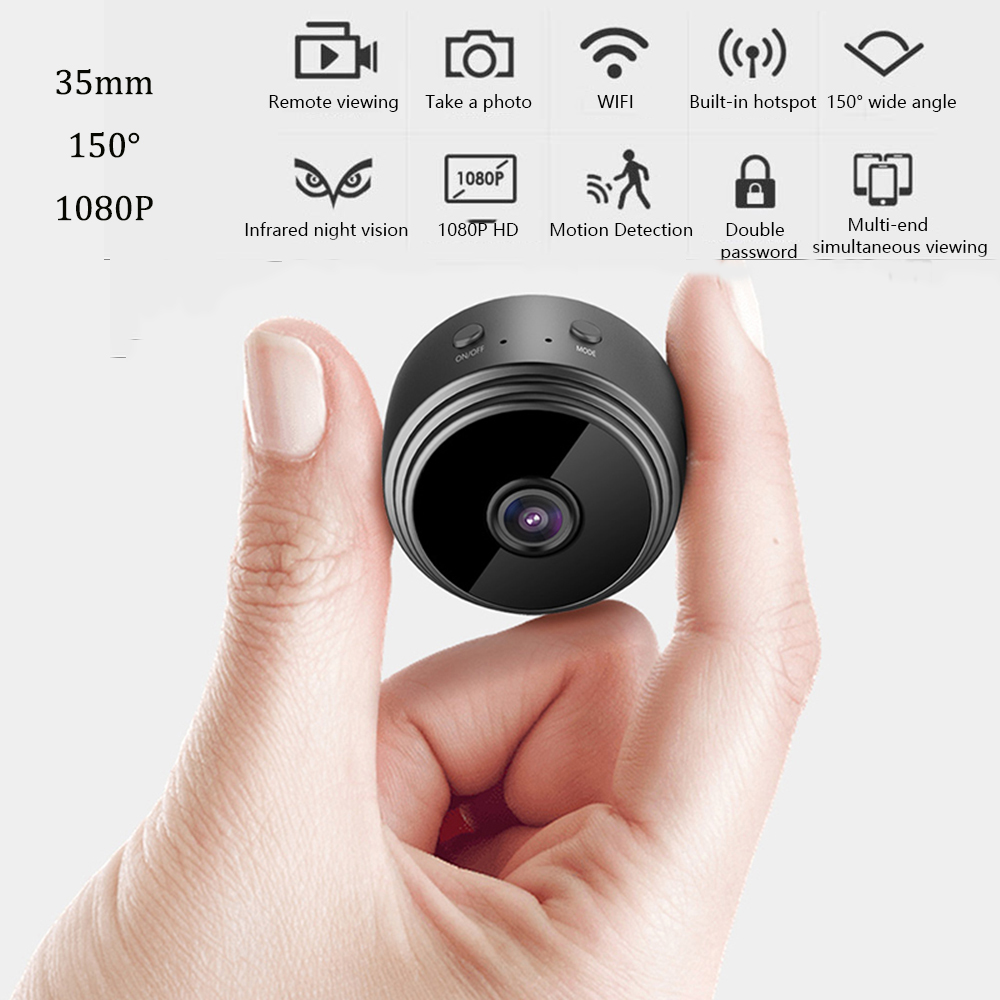 1080P Wireless Mini IP P2P Camera WiFi HD Home Security Guard Micro Camera With Infrared Night Vision Motion Detection DV DVR