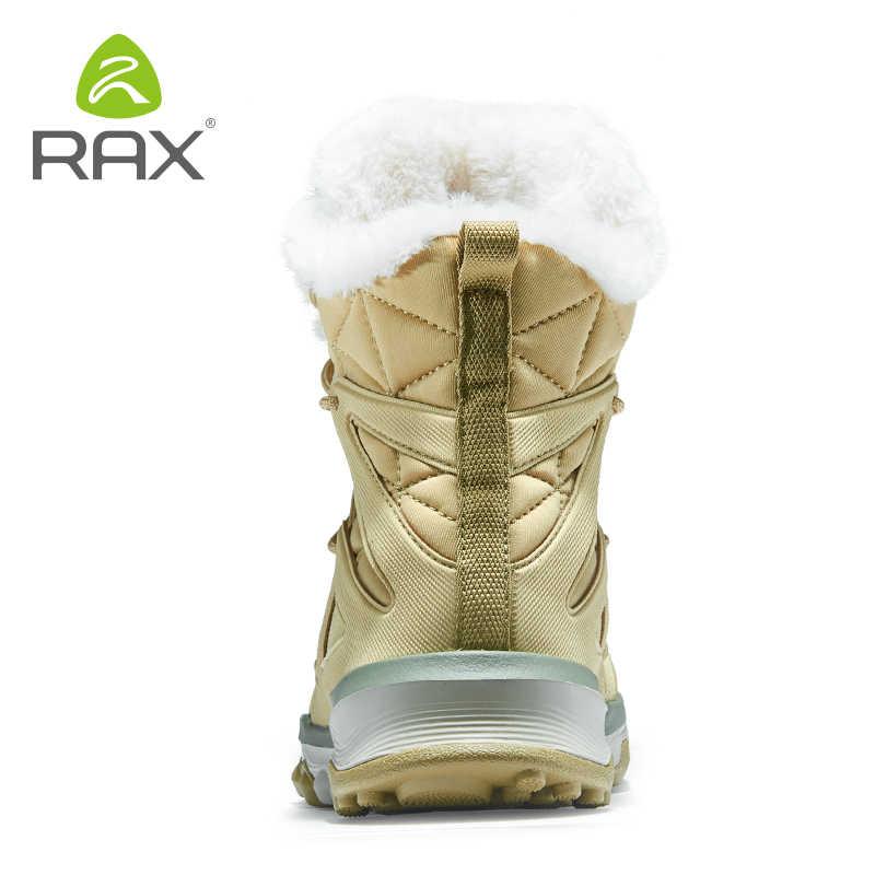 Rax Scarponi Da Neve Delle Donne di Inverno del Cuoio Genuino Fluff Stivali Da Trekking di Montagna Scarpe Da Trekking In Pile Caldo di Sport Scarpe Da Ginnastica Scarpe Da Trekking