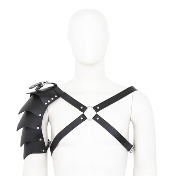 цена на BDSM Men Sexy Chest Harness Leather Fetish Adjustable Male Harness with Single Shoulder Strap Exotic Top Tanks for Erotic Men