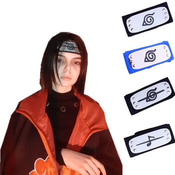 Anime Naruto Akatsuki Pain Uchiha Itachi Cosplay Prop Ninja Symbol Headband Konoha Kakashi Headwear Armband Party Halloween Toys - discount item  15% OFF Costumes & Accessories