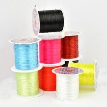 10 м/рулон DIY красочный кристалл бисер стрейч шнур эластичная линия Прозрачный прозрачный бисер проволока нить бусины для изготовления ювелирных изделий