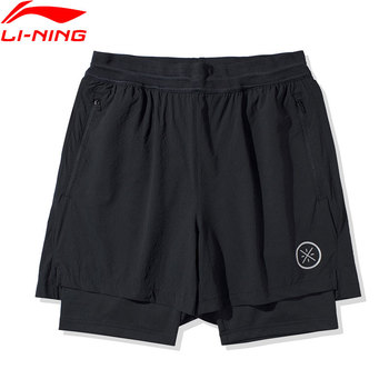 Li-Ning Men Wade Series Track Shorts 77.4%Nylon 22.6%Spandex li ning LiNing Regular Fit Sports Fitness Shorts AKSQ051 1