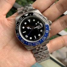 Zegarek męski GMT rlx Master II Rolexable zegarek automatyczny mechaniczny AAA zegarki szafirowa obrotowa ceramiczna ramka szkiełka zegarka Luminous 40mm tanie tanio VODRICH Nie wodoodporne CN (pochodzenie) Bransoletka zapięcie Moda casual Automatyczne self-wiatr 22cm Białe złoto