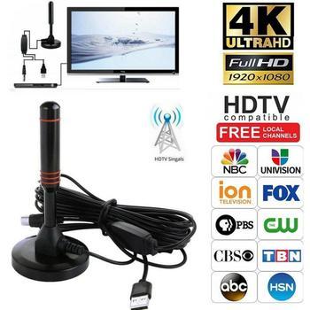 2020 najlepsza wewnętrzna przenośna antena telewizyjna antena HDTV 200 mil 1080P HD antena telewizyjna HDTV 25DB wewnętrzna antena cyfrowa antena wzmacniacz tanie i dobre opinie centechia NONE CN (pochodzenie) Indoor 470-860mhz TV Antenna VHF(172-240 MHz) UHF(470-860 MHz) 50Ω 75Ω 22dBi 200 miles