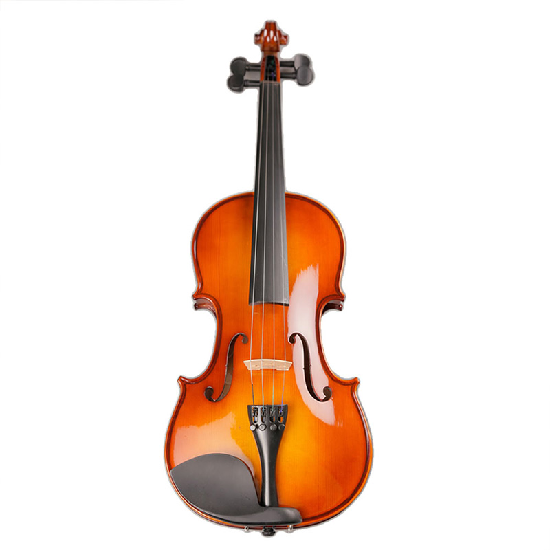 Brand High Quality Solid Wood Violin with Case Bow Strings Shoulder Rest for Beginner Students image