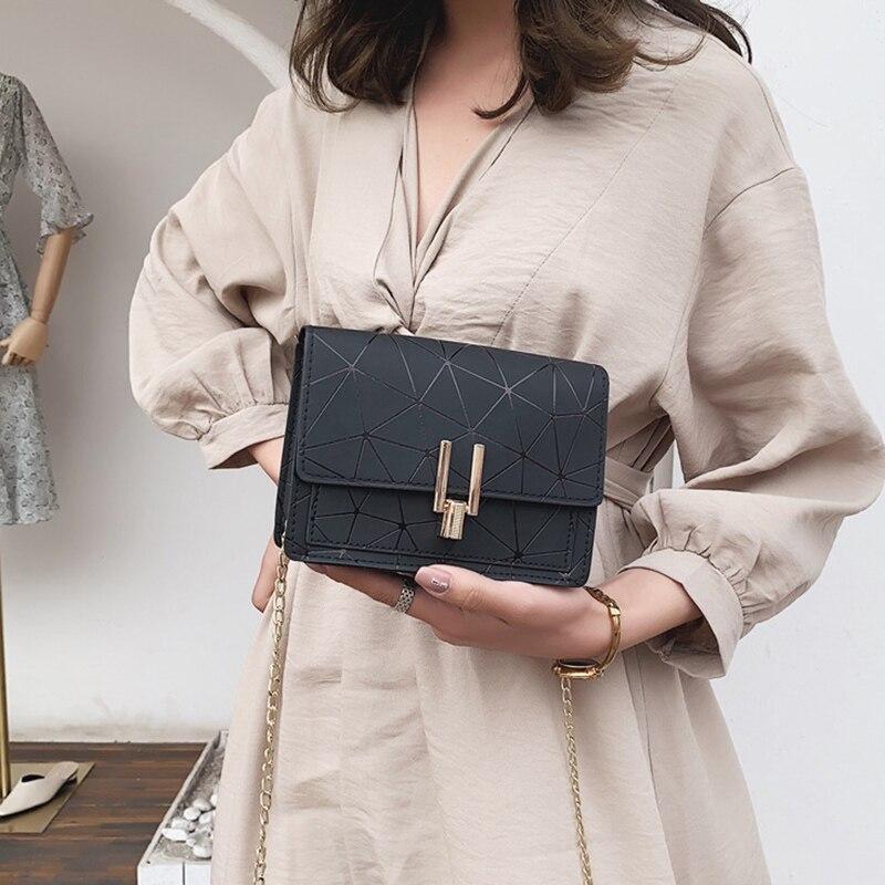 Women Fashion Shoulder Messenger Bags Ladies Geometric Plaid Crossbody Handbag Female Mini Flap Bag New Korean Style Tote SS0425 (5)