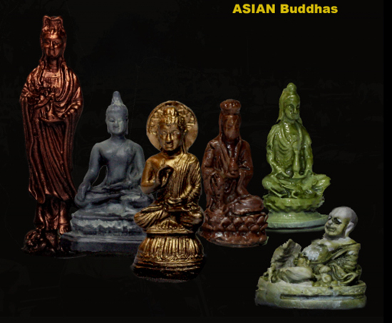 1/35  Ancient Buddhas (6 Statues)   Resin Figure Model Kits Miniature Gk Unassembly Unpainted