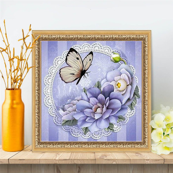 HUACAN 5D DIY Diamond Painting Full Square Drill Butterfly Diamond Embroidery Animals Picture Of Rhinestone