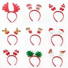 1PCS Decoration Cute Christmas Headdress Snowman Elk Santa Claus Headband Cartoon Kids Adult Holiday Diy Party Gift G