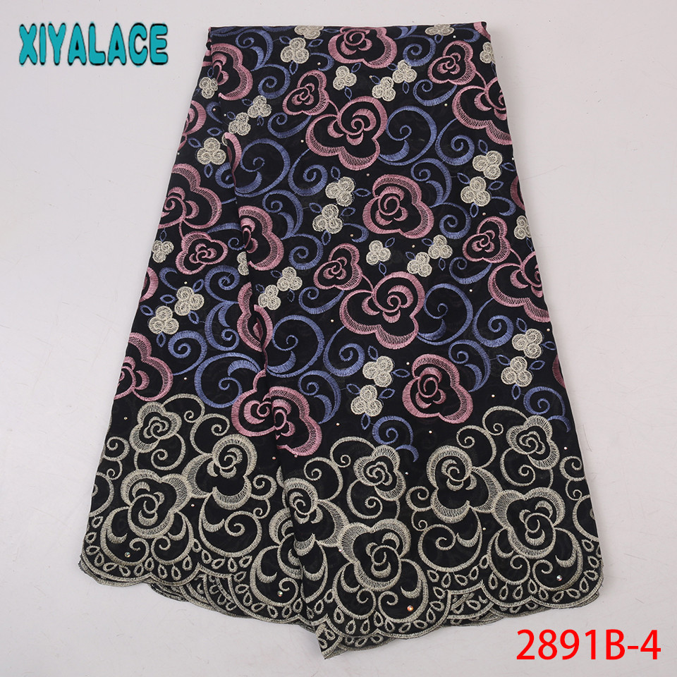 African Dry Lace 2019 Fabrics High Quality Embroidered Fabric Cotton Swiss Voile Lace In Switzerland For Women KS2891B-4