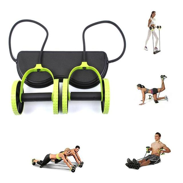 AB Wheels Roller Stretch Elastic Abdominal Resistance Pull Rope Tool  Abdominal Fitness Equipment 2