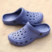 Унисекс обувь мужчины пляжные сандалии тапочки Ева целом комфортно скольжения на повседневная летняя обувь с отверстием быстрая Breathale сушки Сабо