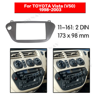 Car multimedia Player frame For TOYOTA Vista (V50) 1998-2003 2 DIN Auto AC Black LHD RHD Auto Audio Radio stereo GPS NAVI fascia image