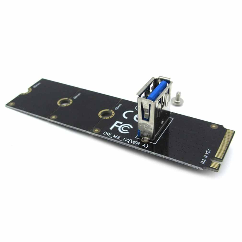 プロ NGFF M.2 Pci-e L USB3.0 アダプタコンバータ拡張ライザーカードマイニングのためのサポート 2260 2280 ドロップシッピング