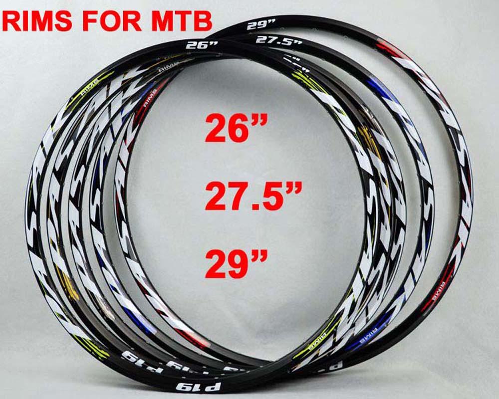 Pasak MTB Wheelset Rims 26 27.5 29 Aluminium Alloy 24H 32H 21mm Depth Disc Brake Bicycle Aro 29er Bike Clincher Ring Felgen