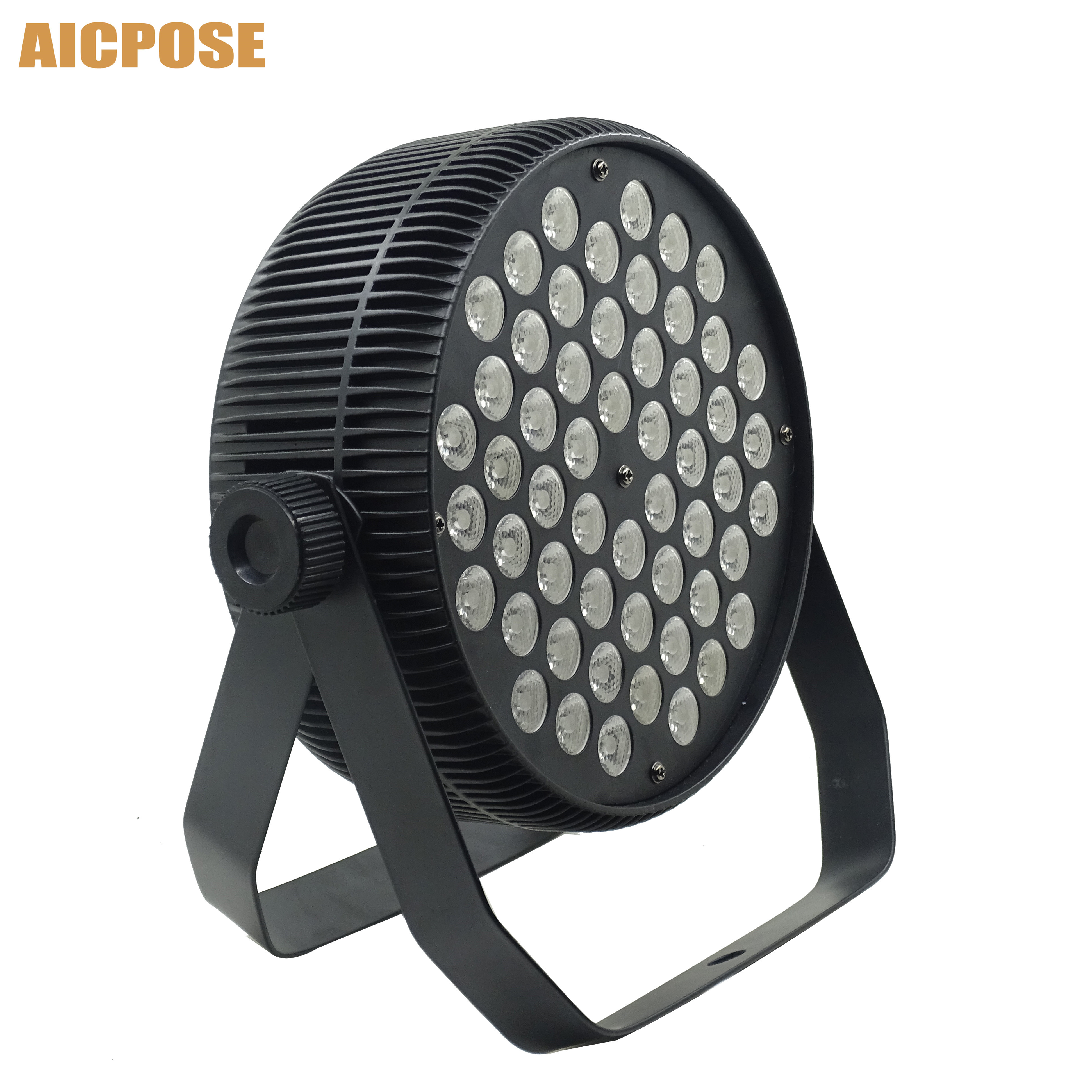 Aluminum Flat LED Par 54x3W RGB 3 in 1 LED Par Can Light spotlight DJ Disco Projector Wall washer stage lighting