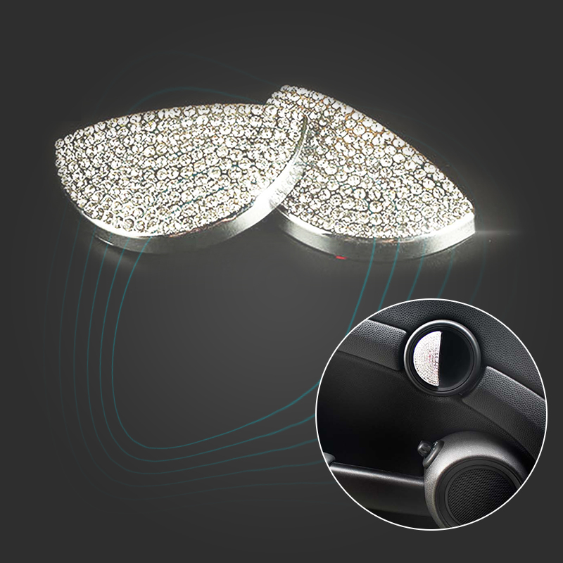 KJAUTOMAX For Mini Cooper R55 R56 Inside Door Handle Decoration Metal R50 R53 Ring R60 R61 Crystal