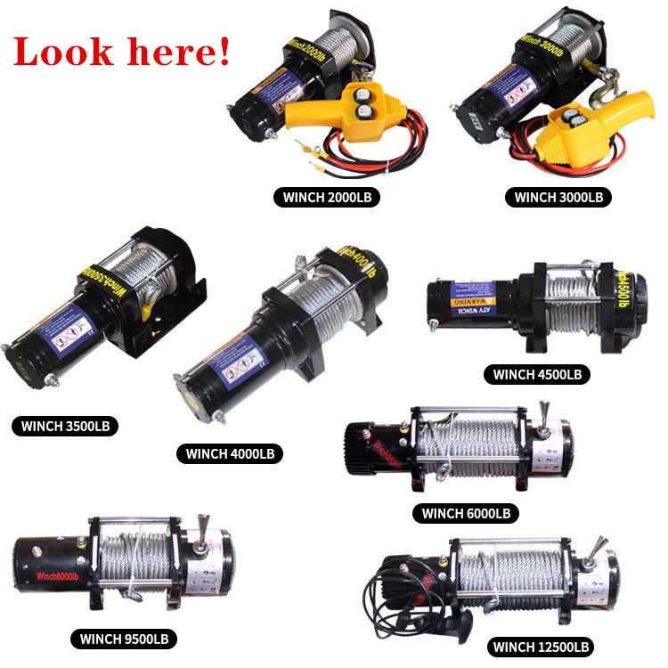 Car Electric Winch 12v Electric Winch 2000-12000lb  Electric Car  Winch