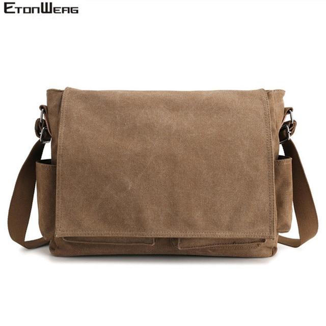 الرجال العلامة التجارية قماش حقيبة الأعمال مكتب رجل حقيبة ساعي الذكور عارضة الكمبيوتر حقيبة لابتوب غطاء كبير حقائب كروسبودي 2019