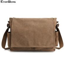 Men's Brand Canvas Briefcase Business office man Messenger Bag Casual male Compu