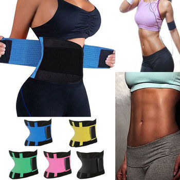 Womens Hot Sweat Sauna Neoprene Back Support Slimming Waist Trainer Slim Belt Gym Soft Breathable Zipper Underwear Shaper Tops
