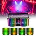 WUZSTAR светодиодный лазерный диско светильник DMX контроллер диджей вечерние светильник с двойной-зеркало заднего вида с 4 дырочками Лазерное ...