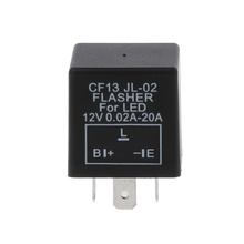 3-Pin Unadjustable CF13 JL02 LED Flasher Relay Turn Signal Hyper Flash Blinking Automobiles Switches & Relays