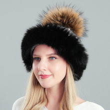 Высококачественная шапка из натурального меха Толстая теплая