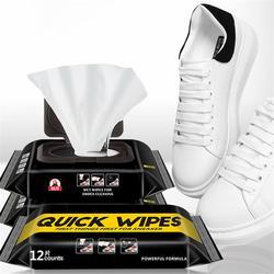 12/30 sztuk białe buty czyszczenie jednorazowe chusteczki nawilżane chusteczki przenośne czyszczenie pielęgnacja chusteczki sportowe buty szczotka do butów czyste