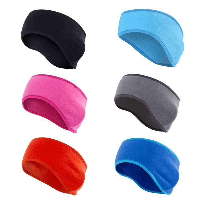 Winter Mens Womens Fleece Earband Stretchy Headband Ear Warmers b