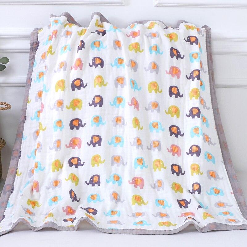 Cobertores do bebê 6 camadas de musselina