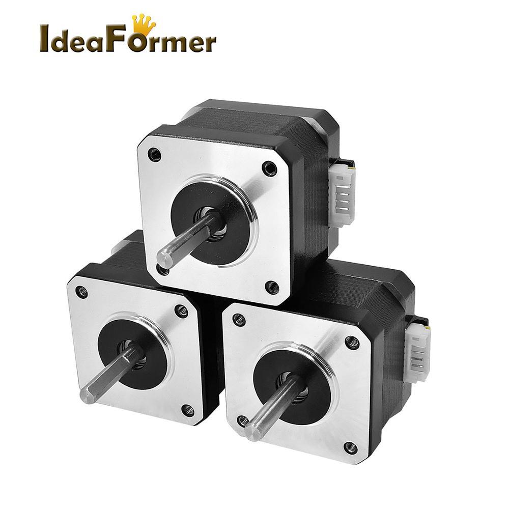 3 pces 3d impressora nema 42 bipolar motor de passo para reprapmotor 0 4a 34mm altura
