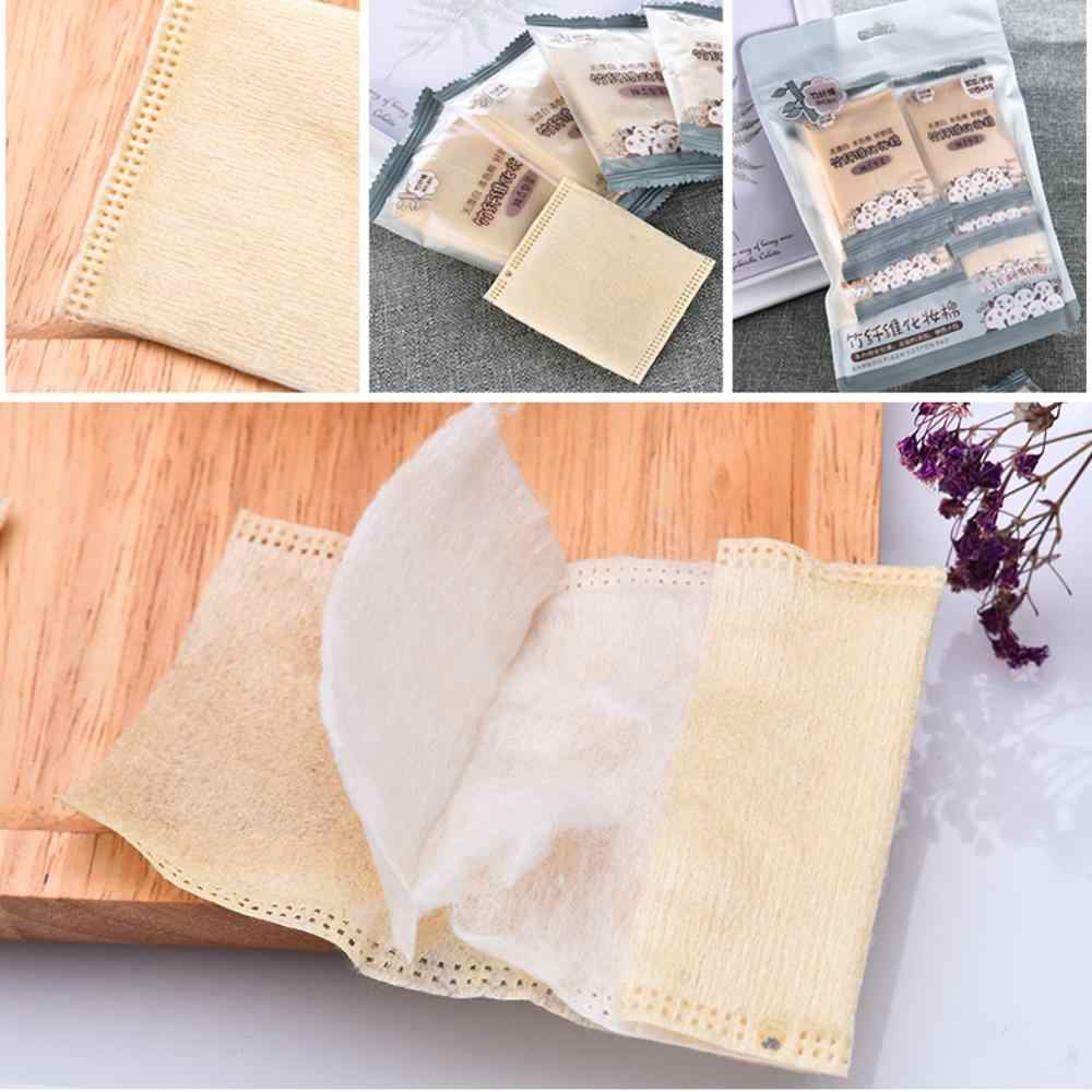 30Pcs Bambus Faser Baumwolle Pad Hand Einfügen Make-Up Baumwolle Pad Make-Up Zu Entfernen Baumwolle
