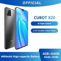 Cubot X20 AI Triple Camera 4GB+64GB Smartphone 6.3 FHD+ Double Sided Glass Body Android 9.0 Face ID Cellura Helio P23 4000mAh