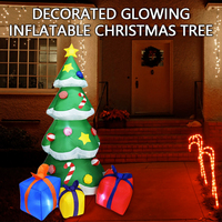 210cm Inflatable Christmas Tree LED Light Air Pump Xmas Tree Indoor Outdoor Inflatable Toys Holiday Christmas Decoration