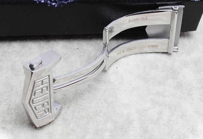 Farfalla Deployment Buckle Fare Doppio Clic Su Pulsante Cinturino In Acciaio Inox Per TAG HEUER Watch Band 22 millimetri