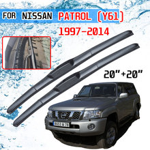 For Nissan Patrol Y61 1997~2014 Accessories Car Front Windscreen Wiper Blades Brushes Cutter 1998 1999 2000 2005 2010 2012 2013