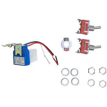 3 Pcs Switch: 2 AC 250V 15A SPST Position On/OFF Toggle Switch & 1 Street Lighting Controller