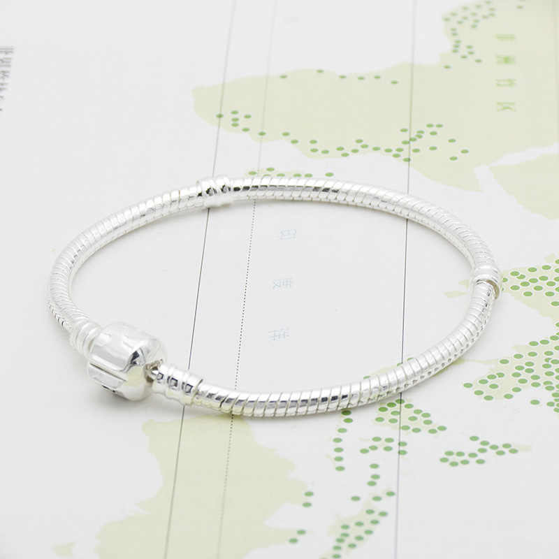 6 design Letter basic chain DIY bracelet women bracelets silver color silver serpentine chain high density chain