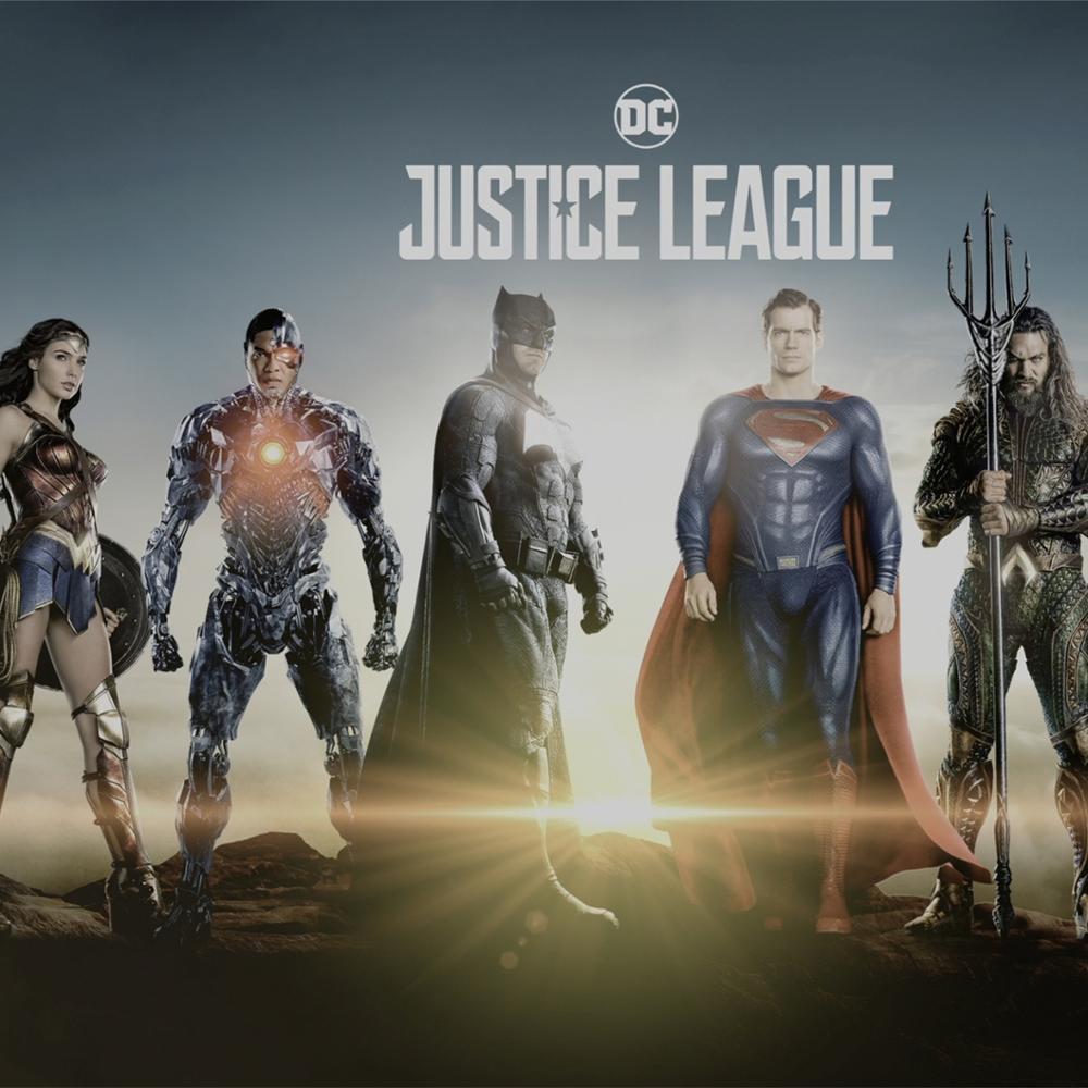 JUSTICE LEAGUE OF AMERICA POSTER SUPERMAN BATMAN PRINT LARGE GIANT  ART FANTASY