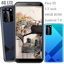 Face id 9s 5mp + 13mp versão global 4g lte smartphones 4g ram 64g rom 5.5 polegada wifi desbloqueado android 7.0 telefones celulares celulares