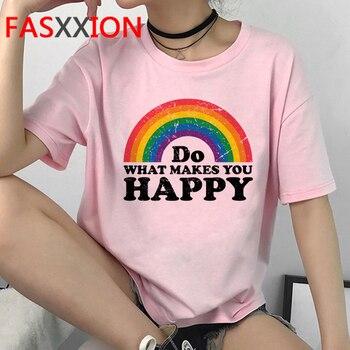 Lgbt Harajuku T Shirt Women Gay Pride 90s Lesbian T-shirt Ullzang Rainbow Streetwear Tshirt Graphic Love Is Love Top Tee Female 30